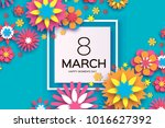 8 march. happy womens day.... | Shutterstock .eps vector #1016627392