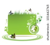 green earth background with... | Shutterstock . vector #101662765