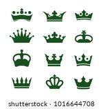 set of vector crowns | Shutterstock .eps vector #1016644708