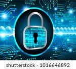 binary circuit board future... | Shutterstock .eps vector #1016646892