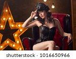 beautiful sexy young woman      ... | Shutterstock . vector #1016650966
