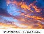 sunset sky with multicolor... | Shutterstock . vector #1016652682