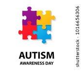autism awareness day. trend... | Shutterstock .eps vector #1016656306