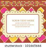 greeting card template design.... | Shutterstock .eps vector #101665666