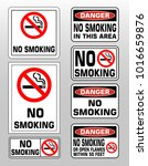 no smoking prohobition... | Shutterstock .eps vector #1016659876