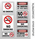 no smoking prohobition... | Shutterstock .eps vector #1016659876