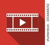 play video icon isolated with... | Shutterstock . vector #1016668252