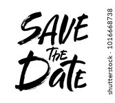 save the date text calligraphy... | Shutterstock .eps vector #1016668738