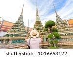 asian tourist women travel in... | Shutterstock . vector #1016693122