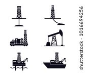 set of flat vector icons for... | Shutterstock .eps vector #1016694256