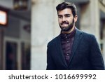 young bearded smiling man ... | Shutterstock . vector #1016699992