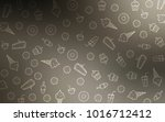 light gray vector template with ... | Shutterstock .eps vector #1016712412