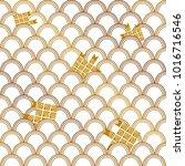 thai carp weave or japanese... | Shutterstock .eps vector #1016716546
