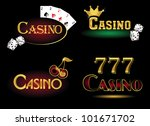 casino icons | Shutterstock .eps vector #101671702