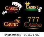 casino icons | Shutterstock .eps vector #101671702