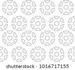 seamless ornamental vector... | Shutterstock .eps vector #1016717155