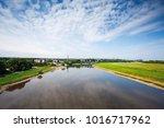 dresden suburbs  river with... | Shutterstock . vector #1016717962