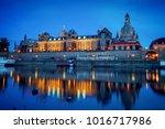dresden academy of fine arts at ... | Shutterstock . vector #1016717986