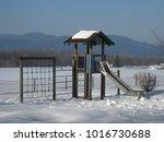 children playground covered... | Shutterstock . vector #1016730688