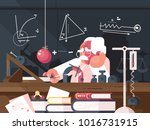 scientist physics teacher makes ... | Shutterstock .eps vector #1016731915