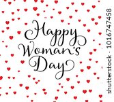 happy women's day background... | Shutterstock .eps vector #1016747458