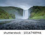 scenic skogafoss waterfall in... | Shutterstock . vector #1016748946
