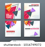 banner design. square abstract...   Shutterstock .eps vector #1016749072