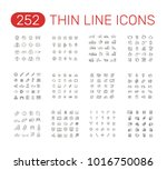 set of thin line vector icons... | Shutterstock .eps vector #1016750086