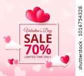 valentines day sale background... | Shutterstock .eps vector #1016754328