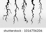 set of crack in surface. rift... | Shutterstock .eps vector #1016756206