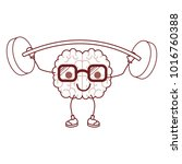 cartoon with glasses train the... | Shutterstock .eps vector #1016760388