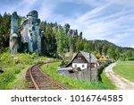limestone adrspach rock town  ... | Shutterstock . vector #1016764585