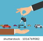 person gives apartment keys to... | Shutterstock .eps vector #1016769082