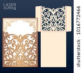 die laser cut wedding... | Shutterstock .eps vector #1016772466