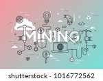 mining word surrounded by hands ... | Shutterstock .eps vector #1016772562
