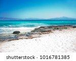wonderful beach of the island... | Shutterstock . vector #1016781385