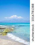 wonderful beach of the island... | Shutterstock . vector #1016781388