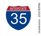 vector illustration interstate... | Shutterstock .eps vector #1016783986