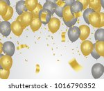 party banner with golden... | Shutterstock .eps vector #1016790352
