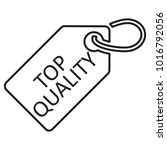 top quality tag. line icon ... | Shutterstock .eps vector #1016792056