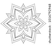 floral outline coloring book... | Shutterstock .eps vector #1016792968