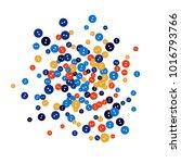 vector confetti background... | Shutterstock .eps vector #1016793766