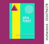 abstract flyer design... | Shutterstock .eps vector #1016796178