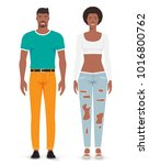 man and woman. vector... | Shutterstock .eps vector #1016800762