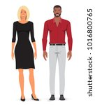 man and woman. vector... | Shutterstock .eps vector #1016800765