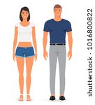 man and woman. vector... | Shutterstock .eps vector #1016800822