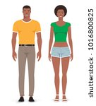 man and woman. vector... | Shutterstock .eps vector #1016800825