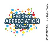 resident appreciation week... | Shutterstock .eps vector #1016807632