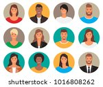 people avatars collection | Shutterstock .eps vector #1016808262
