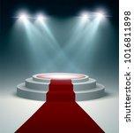 illuminated podium at the... | Shutterstock .eps vector #1016811898